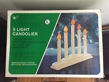 Vintage Candolier Electric Candles Window Decoration 5 Light Noma w original box