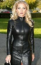 Women-Genuine-Lambskin-leather-Plus-size-Dress 20 COLOR AVAILABLE CUSTOM MADE