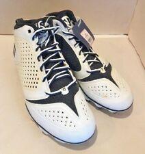 Lacrosse Cleats - Warrior Burn 5.0 Mid Cleats - Black & White Sz 9.5 New No Box