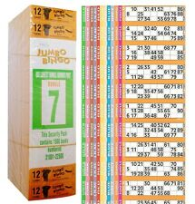 3000 BOOKS 12 PAGE GAME STRIP OF 12 TV JUMBO BINGO TICKET SHEET BIG BOLD NUMBERS