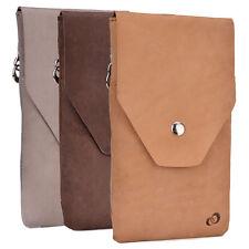 Universal Full-grain Genuine Leather Phone Wallet Case Pouch  GMENMO10 ECE