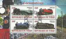 Timbres Trains Tchad o année 2010 lot 1925