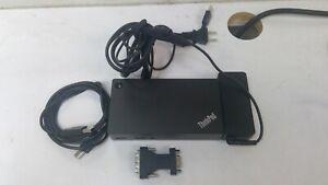 Genuine Lenovo ThinkPad USB 3.0 Pro Dock DK1522 40A7 w/ Power adapter USB cable