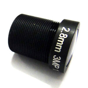 "HD 1/2.5"" 2.8mm wide angle CCTV IR 3MP Lens M12 for HD camera (IR-CUT Filter)"