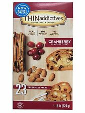 Thin Addictives Lightly Sweet & Crunchy Cranberry Almond Thins 23 Packs 1.16 LB