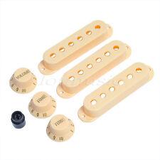 Strat Guitar Knobs And Pickup Covers Cream Plastics Guitar Parts
