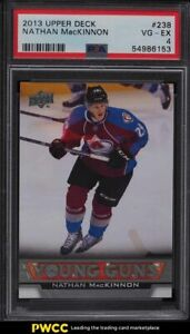 2013 Upper Deck Young Guns Oversized Nathan MacKinnon ROOKIE RC #238 PSA 4 VGEX
