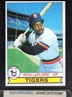 1979 Topps #660 Ron LeFlore Detroit Tigers DP Baseball Card NM