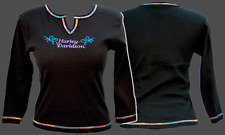 HARLEY DAVIDSON LADIES SCOOP SCRIPT L/S SHIRT (L)  NEW