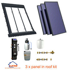 Solar Thermal 3 panel in roof hot water kit