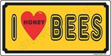 I LOVE HONEY BEES license plate  - HONEY, BEE KEEPER, HONEY FOR SALE, SUPPLIES