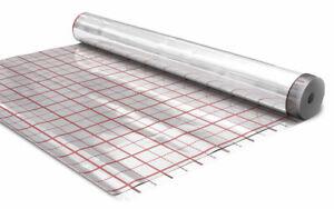 100m² foliarex® Hotfloor Rasterfolie für Fußbodenheizung Alufolie Isolierfolie