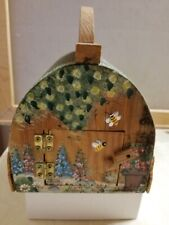 Bug Collector Hand Painted Wood and Wire Mesh Holder Basket Free Shipping