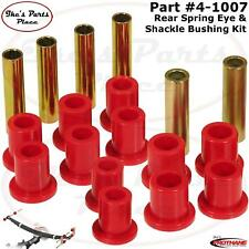 Prothane 4-1007 Rear Spring Eye & Shackle Bushing Kit 87-96 Dodge Dakota 2WD&4WD