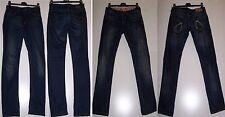 STOCK n.2 Blue Jeans BSK e INDIAN RAGS LOTTO PANTALONI Denim invecchiato Tg 42 S