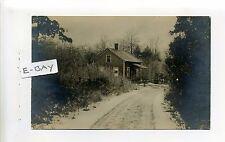 Wallum Lake photographer (Burrillville) RI home, rural street, RPPC real photo