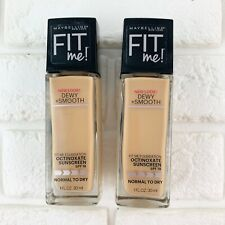 Maybelline New York Fit Me Dewy + Smooth Foundation (Pack of 2) 128 Warm Nude