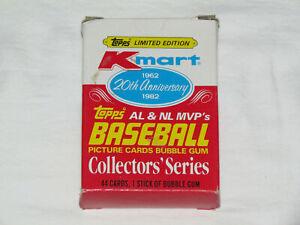 1982 TOPPS KMART BASEBALL 20th Anniversary AL & NL MVP Card Set #1-44 IN BOX