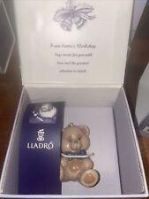 Lladro Santa's Workshop Teddy Bear Christmas ornament - Mib - Mint - Retired