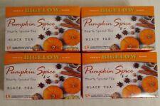 4 boxes Bigelow Seasonal Black Tea Pumpkin Spice w/caffeine Caffeinated Autumn