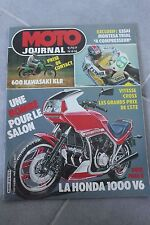 MOTO JOURNAL 616 HONDA VT 500 E KAWASAKI KLR 600 MONTESA Alcor 1983