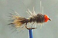 10 x Mouche LOT Nymphe Lievre BILLE ORANGE H10/12/14/16/18/20 nymph hare fly