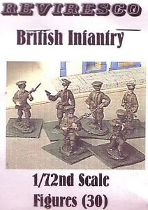 Englische Infanterie - Soft Cap  1. Weltkrieg - 30 Zinnfiguren - 1:72