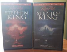 2 VHS ex-noleggio - Stephen King ROSE RED - WARNER HOME VIDEO - RARE - OTTIME !!