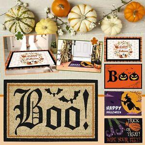 Halloween Non-Slip Door Mat Indoor/Outdoor Rug Front Door Welcome Mat 40x60CM
