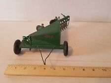 SLIK TOYS Original Oliver Side Delivery Hay Rake Farm Toy Tractor Implement Vtg