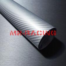 3'x5' 3ft x 5ft 4D Gloss Silver Carbon Fiber Sticker Decal Car Vinyl Wrap Film