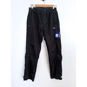 NWT Huk CYB Packable Rain Pants Small Black Fishing Waterproof Women's $100