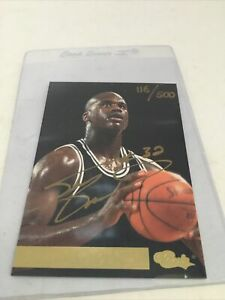 Rare 1994 Shaquille O'Neal Autograph Card Classic 1 Of 500 Signed