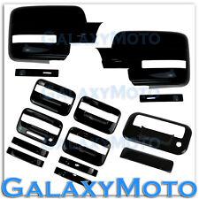 09-14 Ford F150 BLACK Mirror+4 Door Handle+keypad+no PSG keyhole+Tailgate Cover