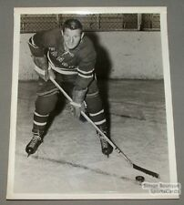 Original Late 50's Ian Cushenan  N.Y. Rangers Photo