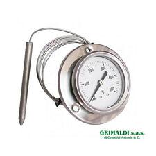 TERMOMETRO PER FORNO A LEGNA BARBECUE BBQ PIROMETRO 0-500°C ACCIAIO INOX