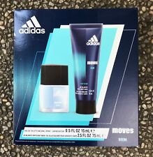 Adidas Moves Gift Set for Men 15ml EDT Spray Perfume + 75ml Hair and Body Wash