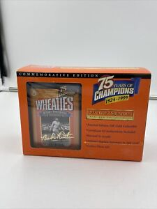 Wheaties Babe Ruth 75 Years Of Champions Gold Signature Mini Box