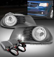 11-16 DODGE GRAND CARAVAN FRONT BUMPER FOG LIGHT LAMP CHROME W/50W 6K HID+SWITCH