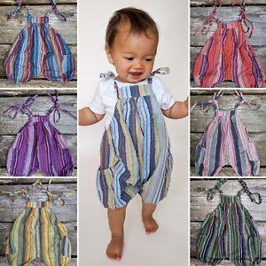 Kids dungarees Children's baby jumpsuit romper hippy boho alternative 0-4 yrs
