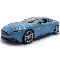 1:24 Aston Martin Vanquish V12 2014 Sports Car Model Car Diecast Vehicle Blue