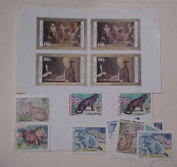CONGO CAT LARGE PROOFS 4 DIFF., SHEETLET , 8 IMPERF & 4 STAMPS MINT NH