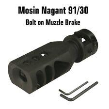 Mosin Nagant 91/30 Muzzle Brake  Bolt on Tanker Competition Triangular Baffles