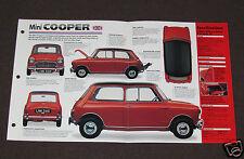 1961-1971 MINI COOPER (1964 970-cc) Car SPEC SHEET BROCHURE PHOTO BOOKLET