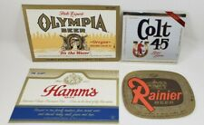 Rainier, Colt 45, Olympia and Hamm's Beer Bottle Labels