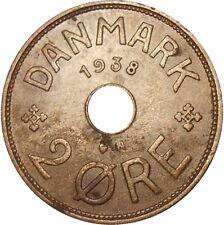 Denmark 2 Ore 1938 N;GJ KM#827.2 Christian X (DAN-15)