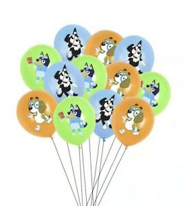 BLUEY DOG BALLOONS 6 PACK BIRTHDAY PARTY LOLLY LOOT BAG BALLOON SUPPLIES