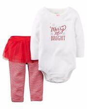 NEW Carter's Baby Girls 2 Pc Christmas Tutu Leggings Set ~ 3 Months Toddler Baby
