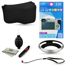 JJC 5 in1 kits for Sony A6300 A6000+16-50mm lens Hood Screen film Camera case