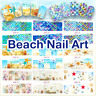 Mermaid Scales, Beach Nail Decals, Water Decals, Nail Stickers, Summer, Shells